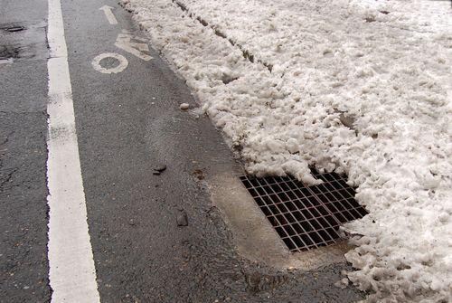 Storm drain - snow