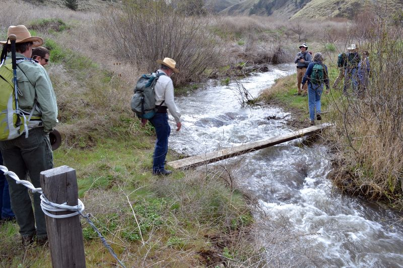Fording Pine Creek